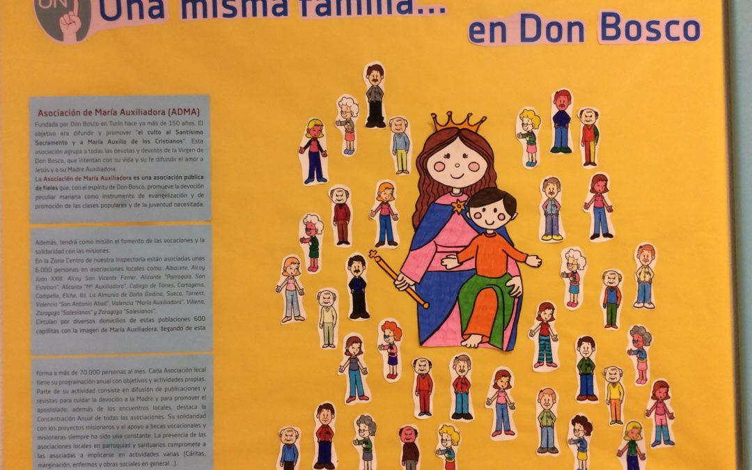 Carteleras educativas: «Una misma familia… en Don Bosco»